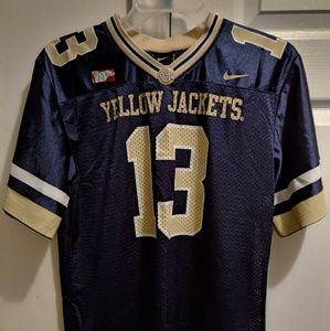Nike G Tech Yellow Jackets kids Football 13 Jersey